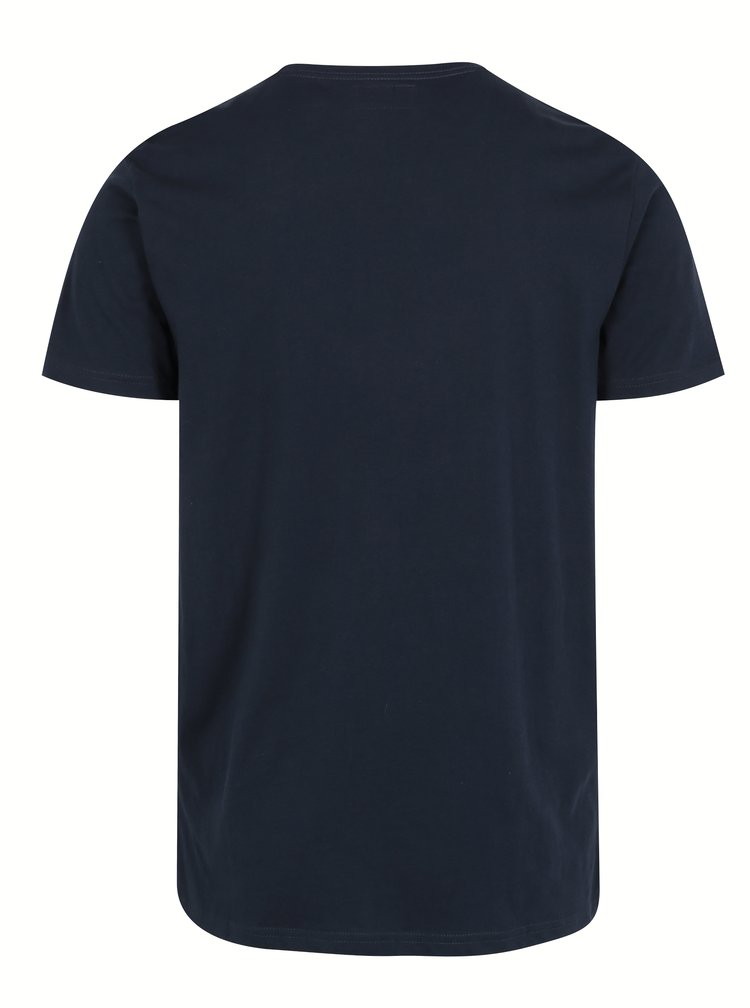 Tricou albastru din bumbac cu print maimuta - Shine Original