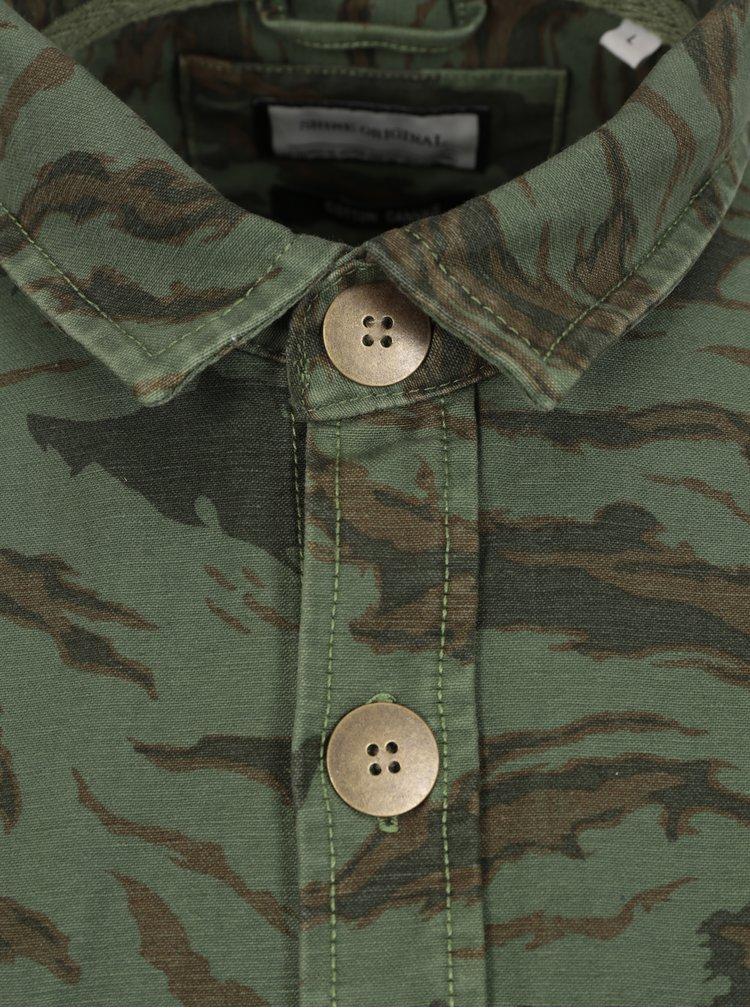 Zelená vzorovaná košeľa Shine Original
