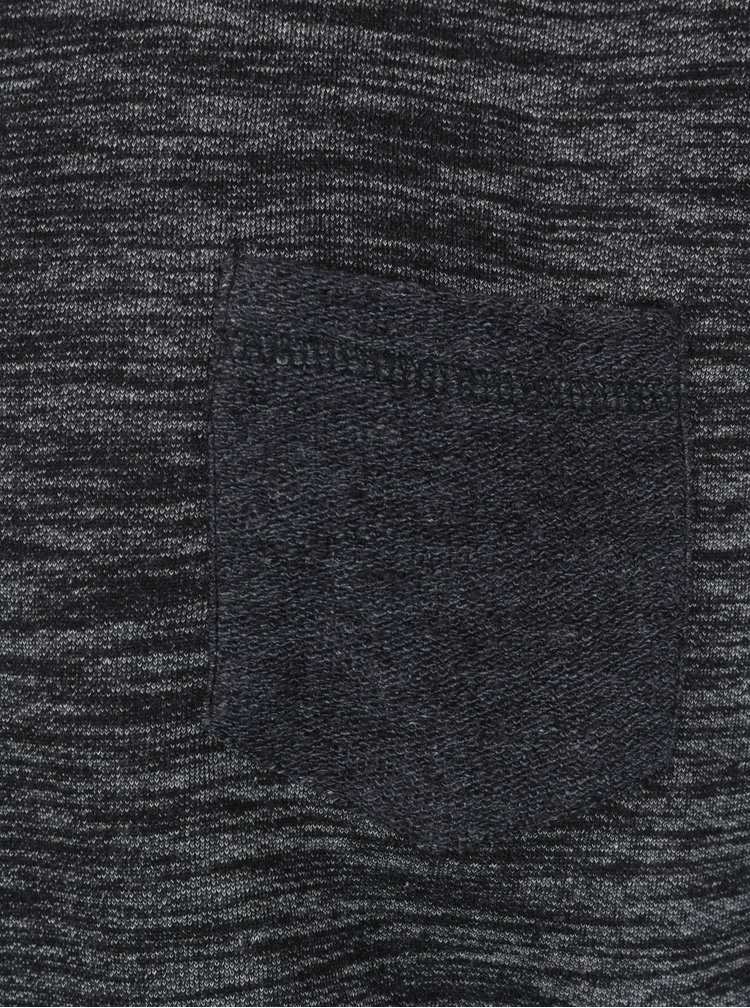 Černá žíhaná mikina Shine Original