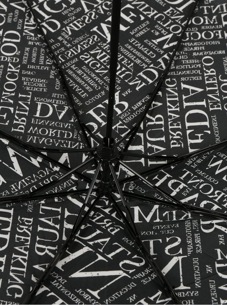 Umbrela neagra pliabila cu print - Derby