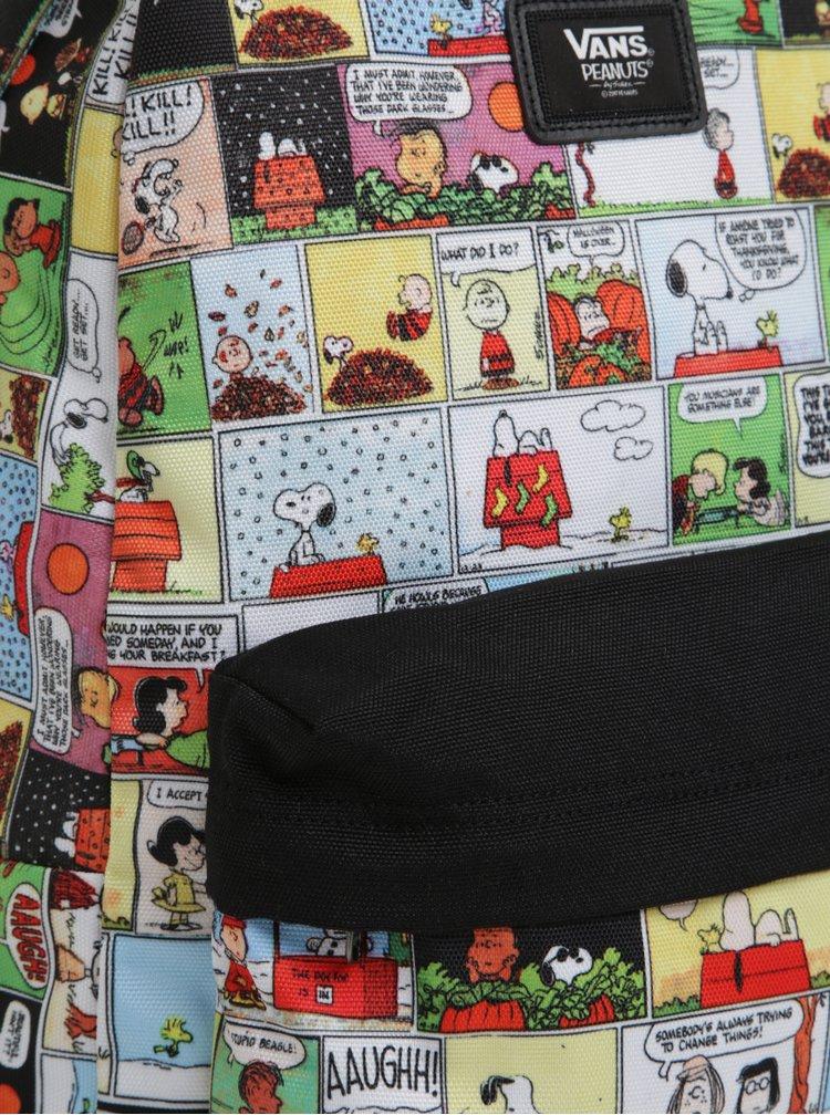 Rucsac bej&negru cu print imagini VANS Peanuts