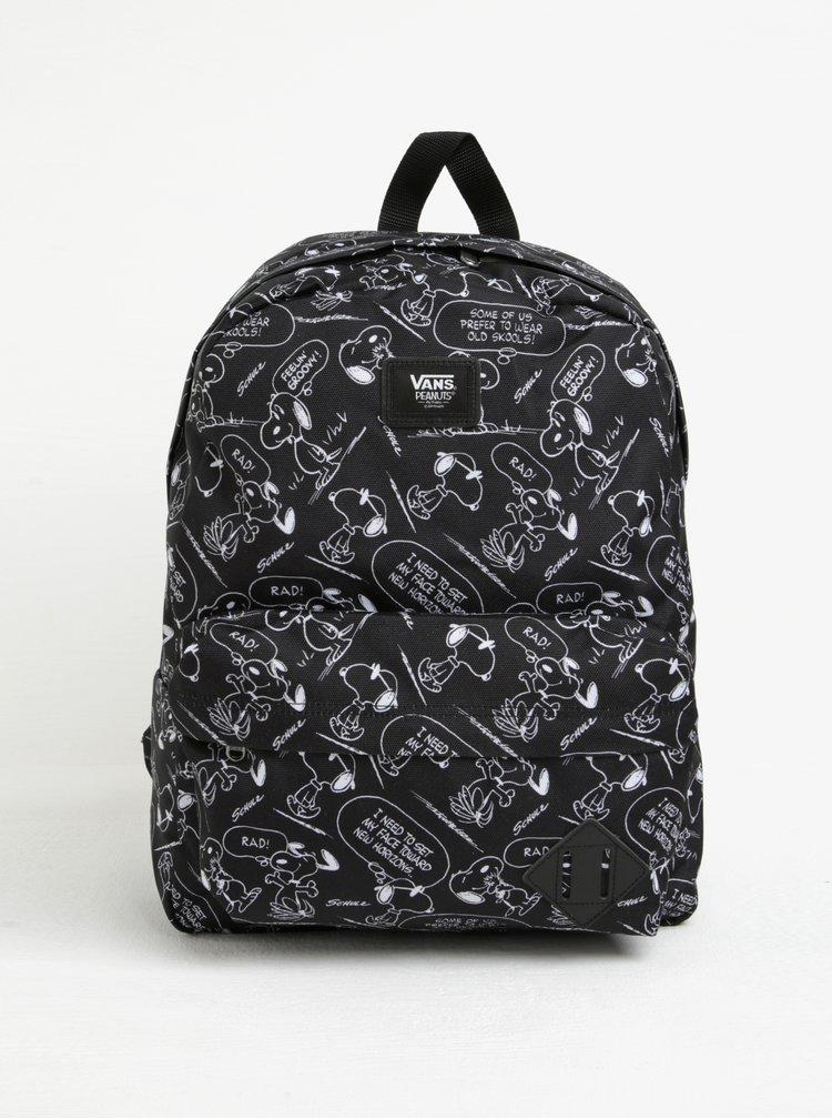 Černý vzorovaný batoh VANS Peanuts