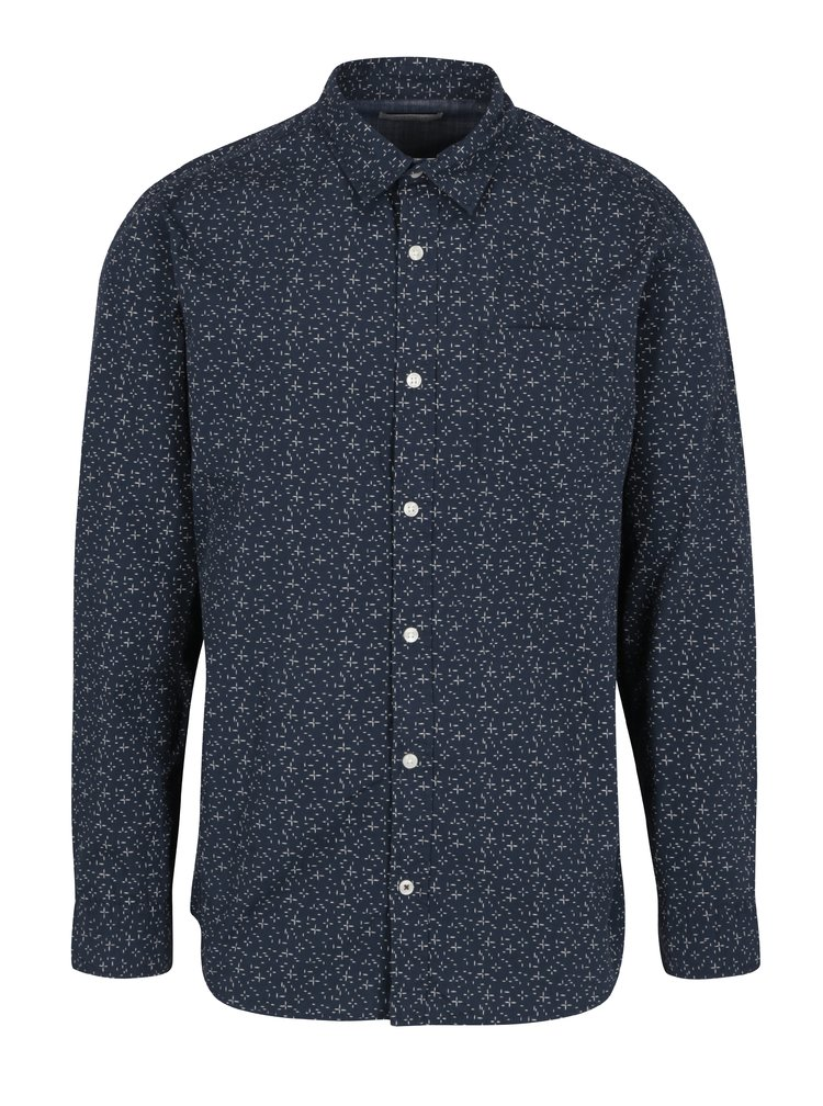 Camasa bleumarin&crem cu print marunt  Jack & Jones Originals Simon