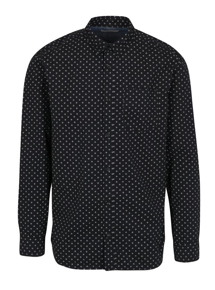 Čierna vzorovaná košeľa Jack & Jones Originals Simon