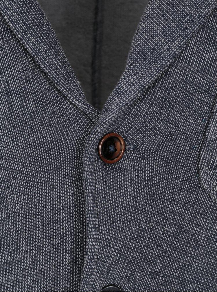 Šedé žíhané mikinové sako Jack & Jones Vintage Danley