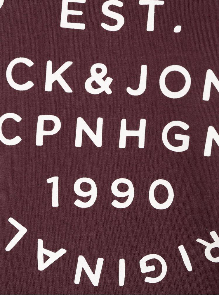 Vínová mikina s potiskem Jack & Jones Originals Softneo