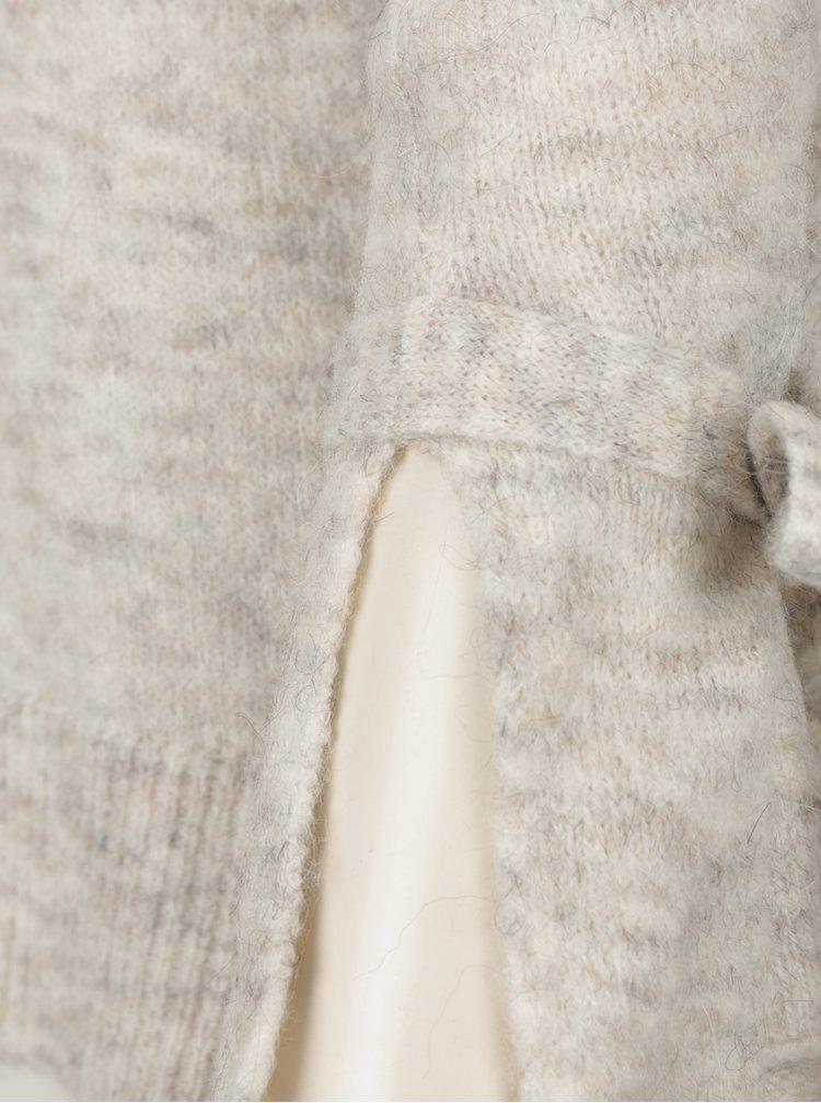 Krémový žíhaný svetr s mašlemi VERO MODA Cersei