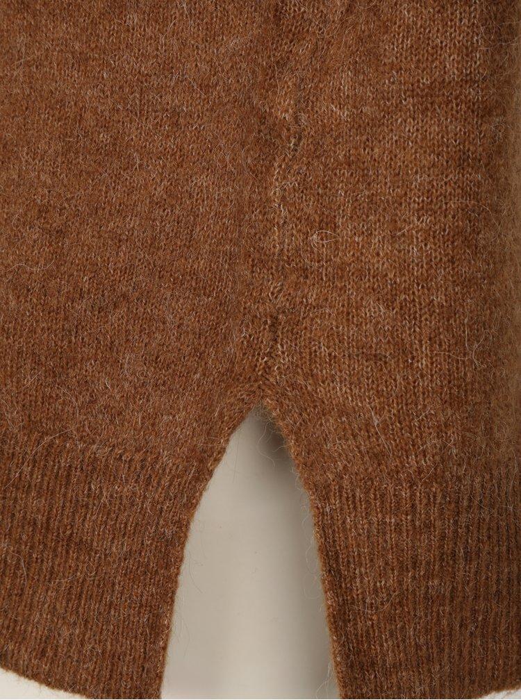 Hnědý svetr s mašlemi VERO MODA Cersei