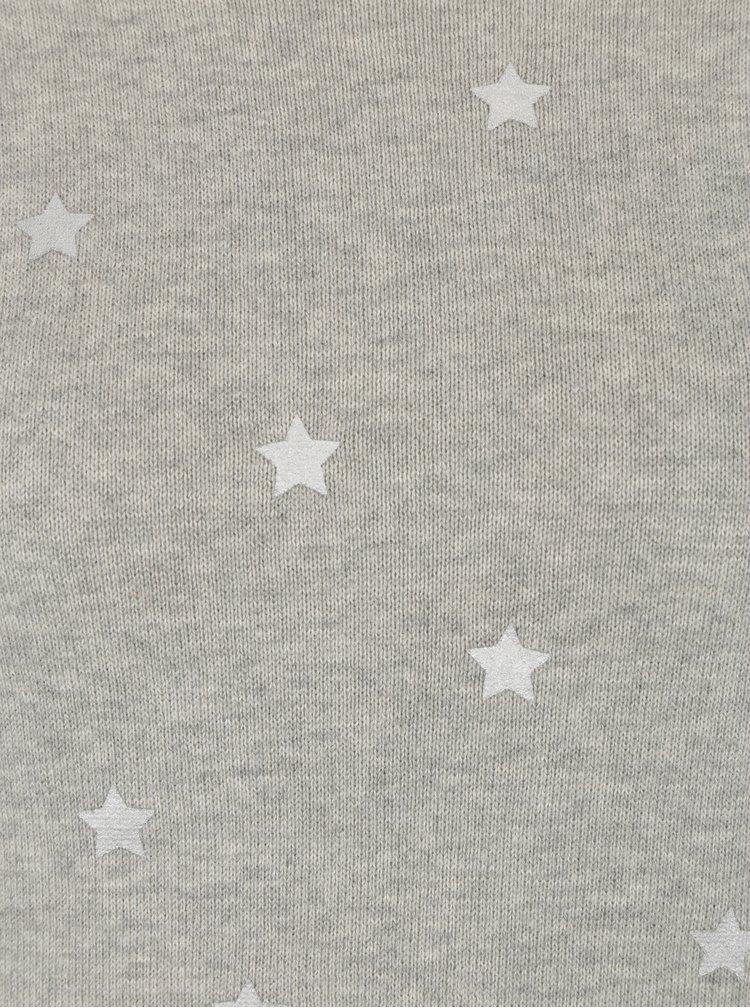 Šedý žíhaný vzorovaný svetr VERO MODA Snowflake
