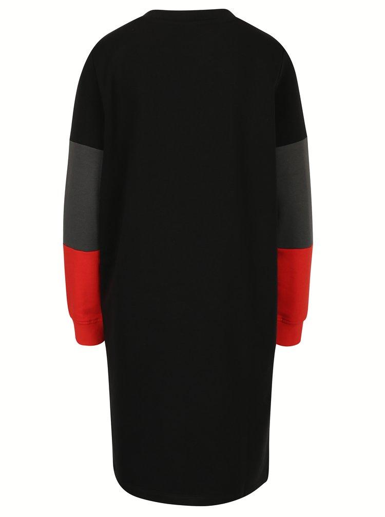 Rochie - pulover neagra cu croi asimetric  - Noisy May Winner