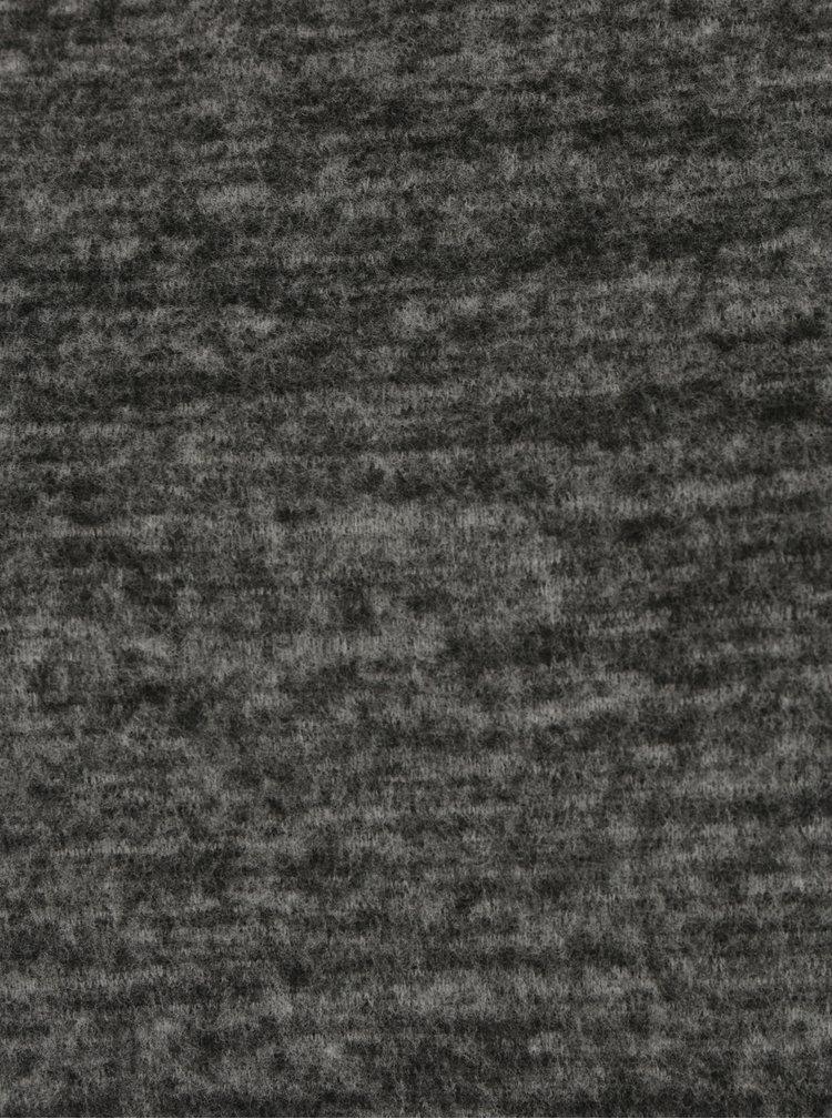 Tmavě šedé žíhané šaty s dlouhým rukávem VERO MODA Chula