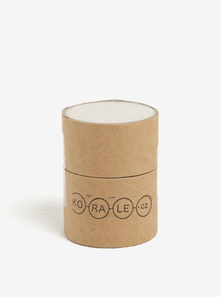 Colier handmade auriu cu margele din sticla si lemn - KO-RA-LE Ball