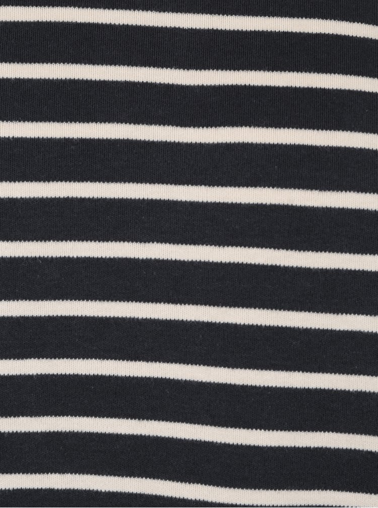 Krémovo-modré pruhované basic tričko SUIT Beagle