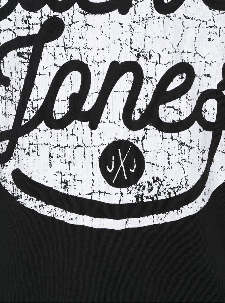 Černé tričko s potiskem Jack & Jones Originals Stood Tee