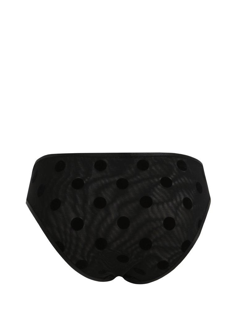 Chiloti negri cu buline - Y.A.S Dot