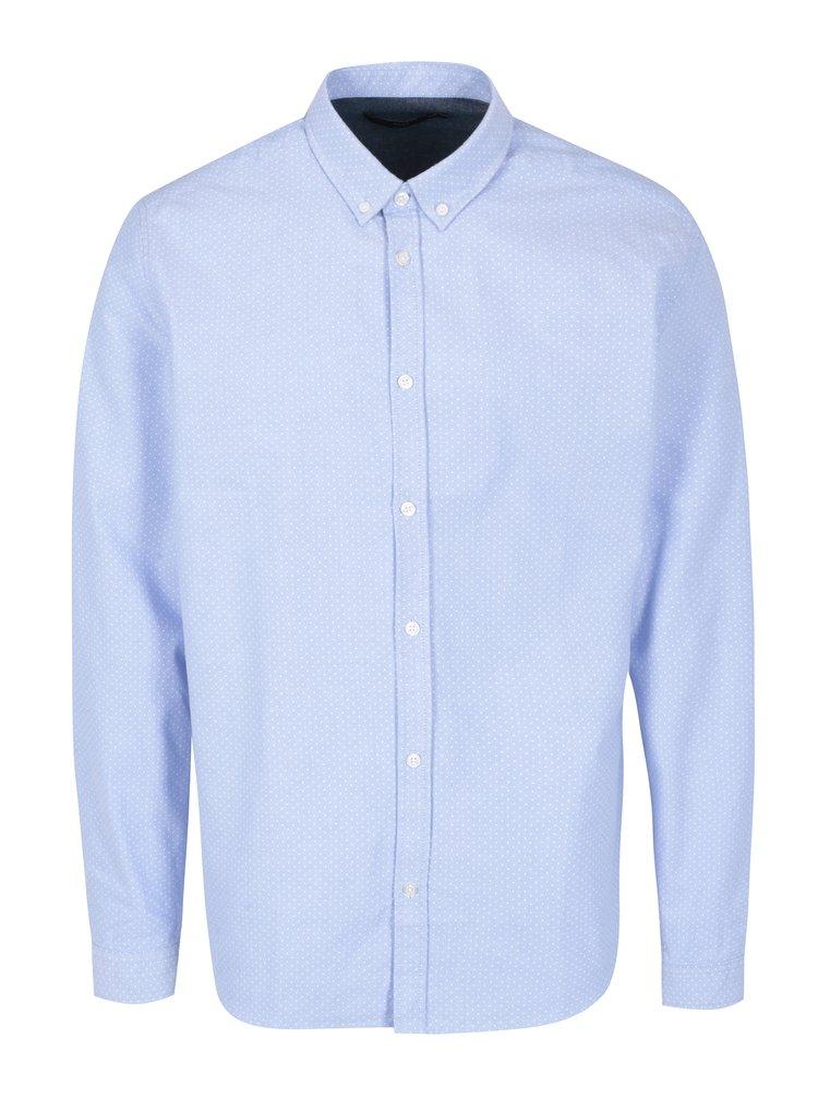 Camasa bleu cu print - SUIT Oxford Dot