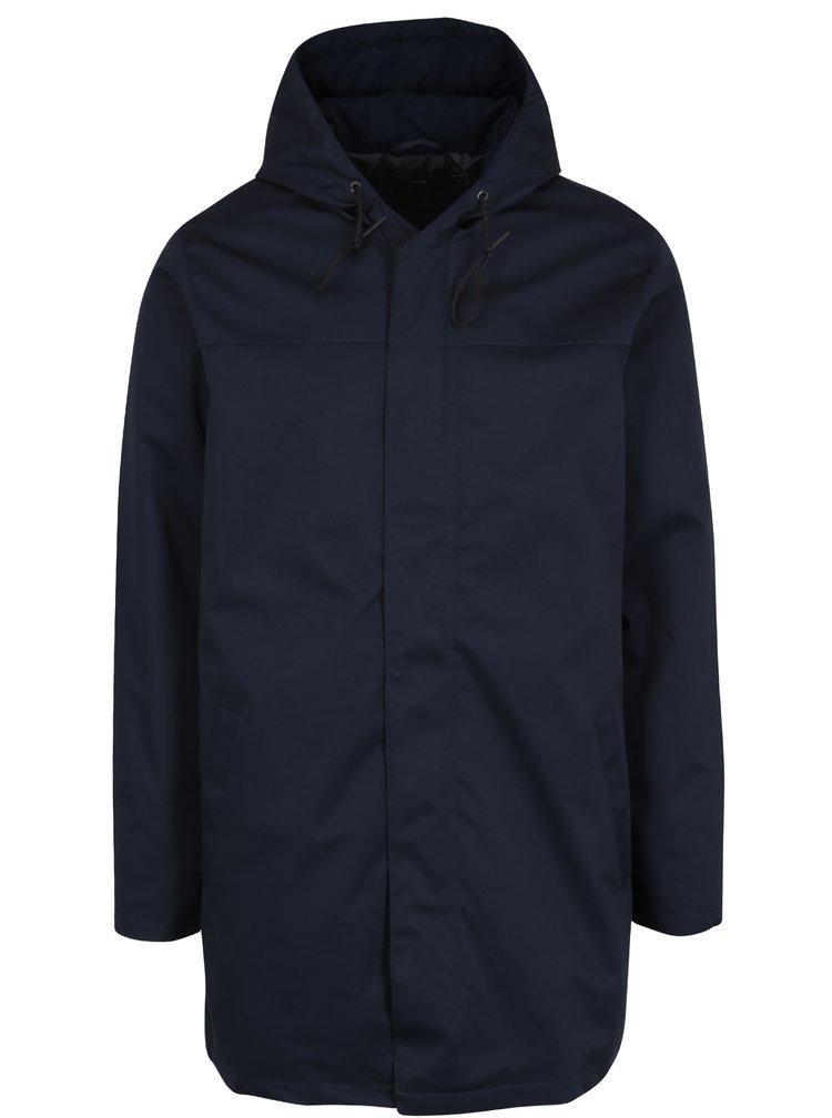 Tmavě modrý pánský zimní kabát SUIT Kian