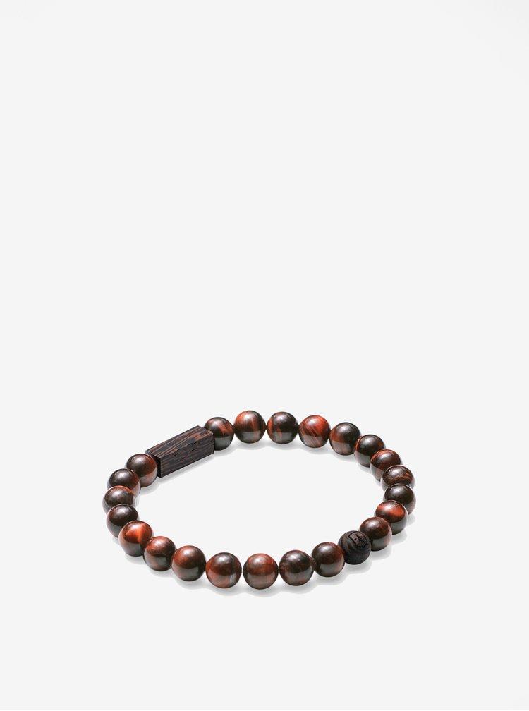 Hnědý náramek BeWooden Tauris Bracelet