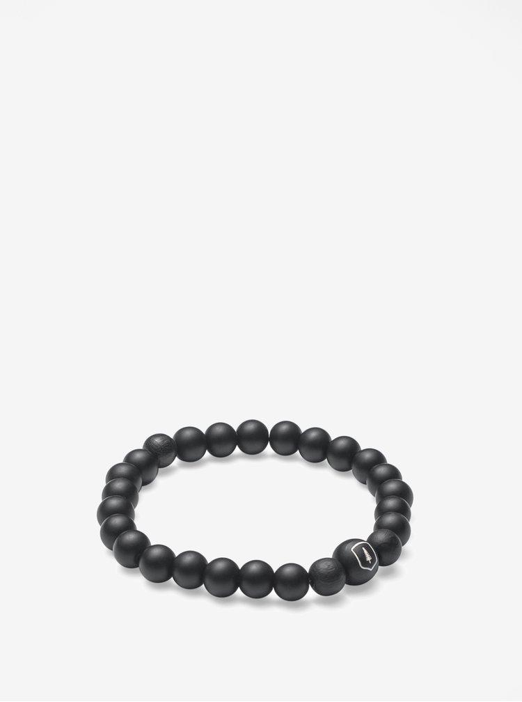 Černý náramek BeWooden Cassio Bracelet