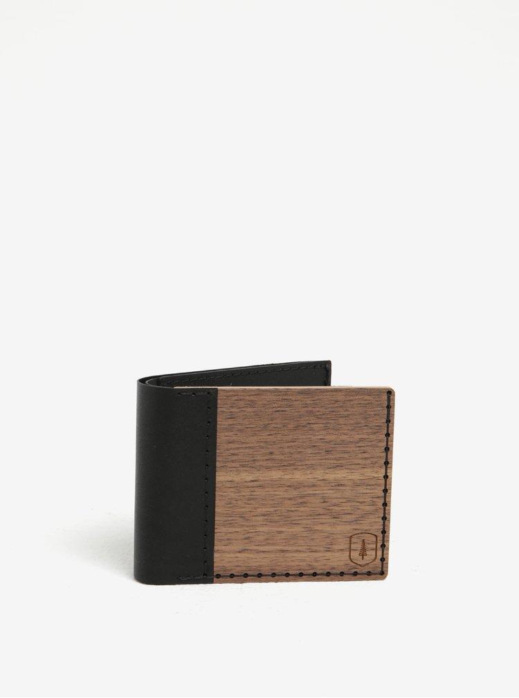 Tmavě hnědá dřevěná peněženka BeWooden Nox Virilia