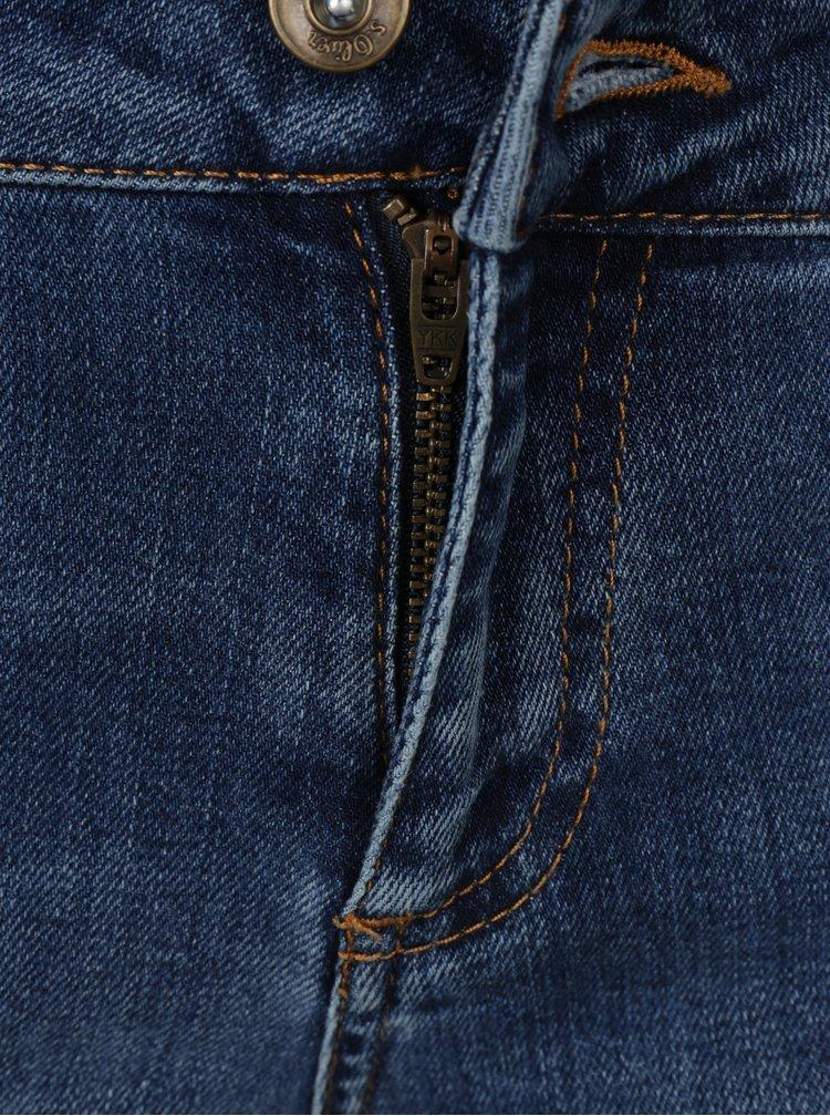 Modré dámské slim džíny s výšivkou s.Oliver