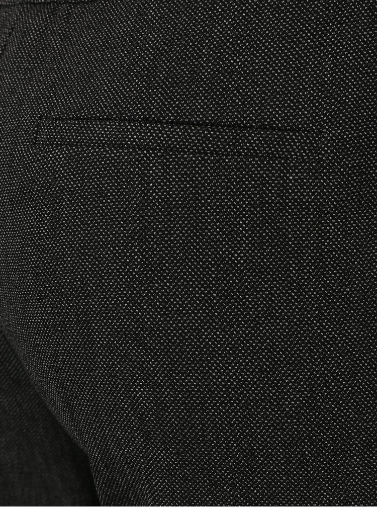 Tmavě šedé dámské kalhoty s elastickým pasem s.Oliver