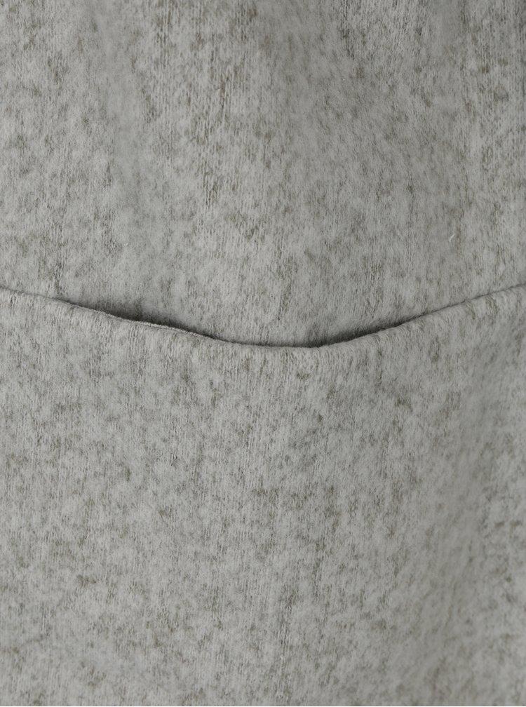 Světle šedý dlouhý žíhaný kardigan s kapsami VILA Nemo