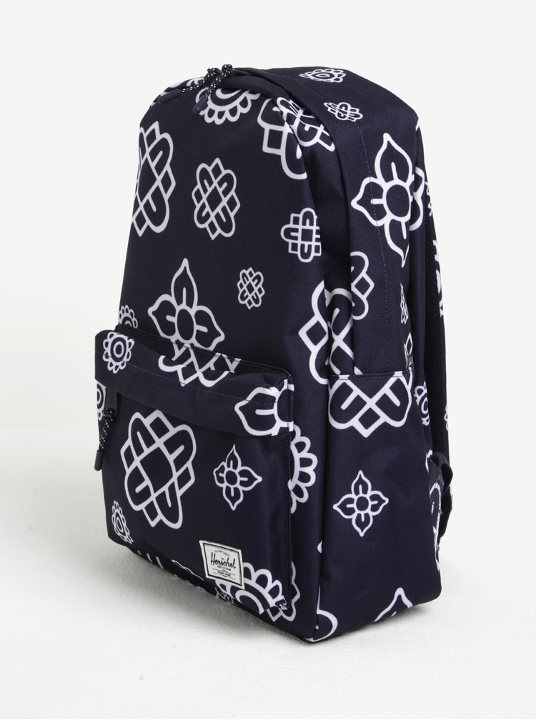 Rucsac bleumarin&alb cu print floral stilizat  Herschel Classic 18 l