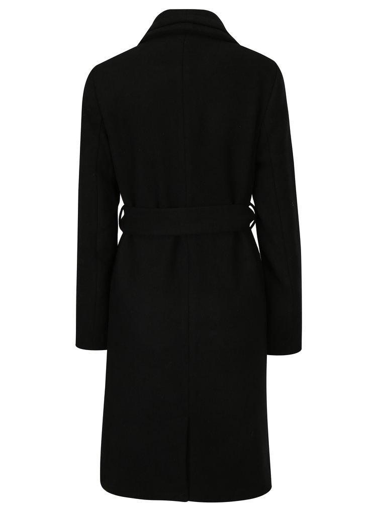 Černý zimní kabát s příměsí vlny VERO MODA Pisa