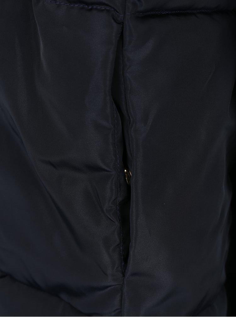 Tmavě modrý prošívaný zimní kabát VERO MODA Diva