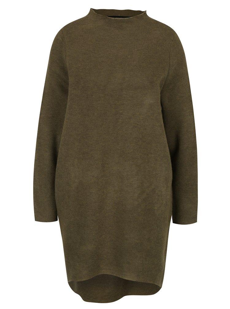 Rochie - pulover kaki asimetrica- VERO MODA Ylda