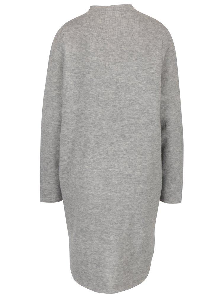 Světle šedé svetrové šaty VERO MODA Ylda