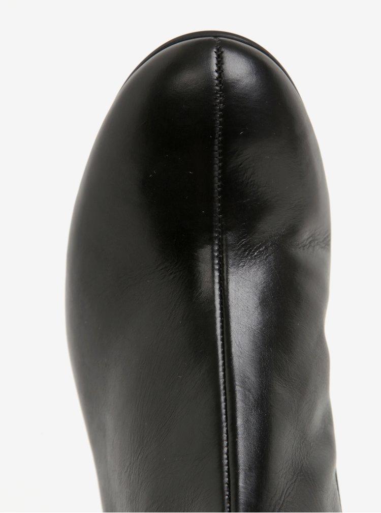 Černé dámské kožené kozačky Högl