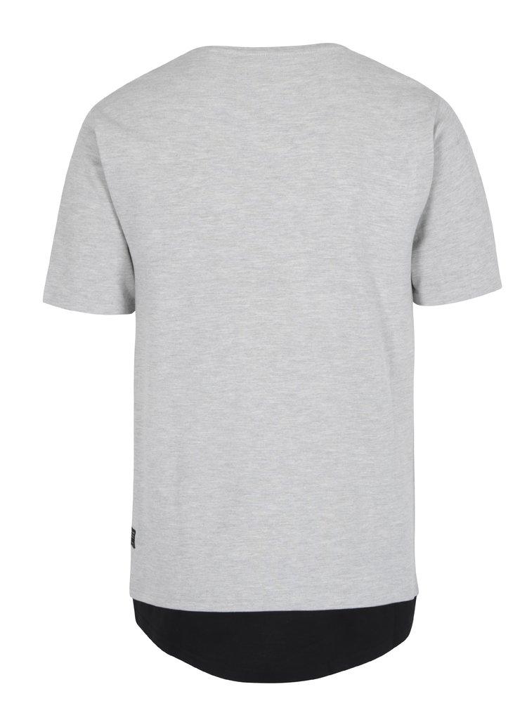 Světle šedé žíhané tričko ONLY & SONS Maison