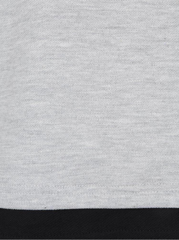 Tricou asimetric gri melanj din bumbac - ONLY & SONS Maison
