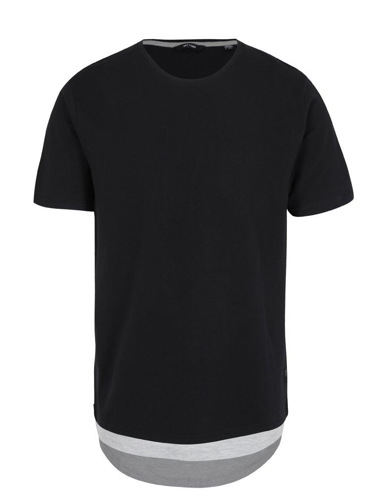 Čierne tričko ONLY & SONS Maison