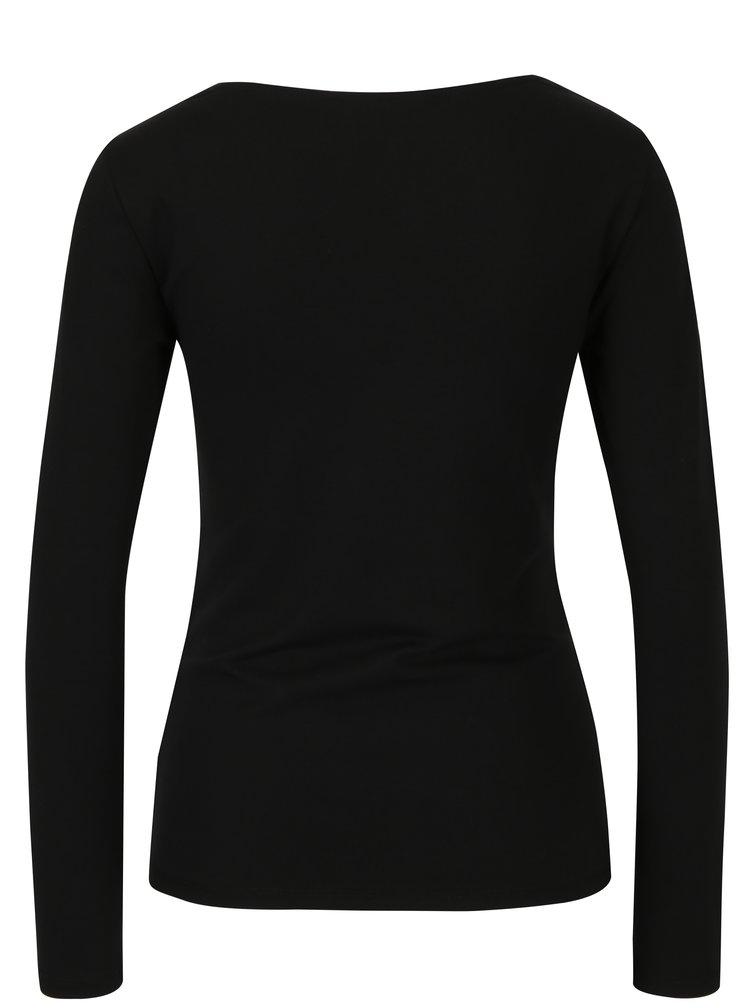 Bluza neagra cu decolteu inima VERO MODA Holly