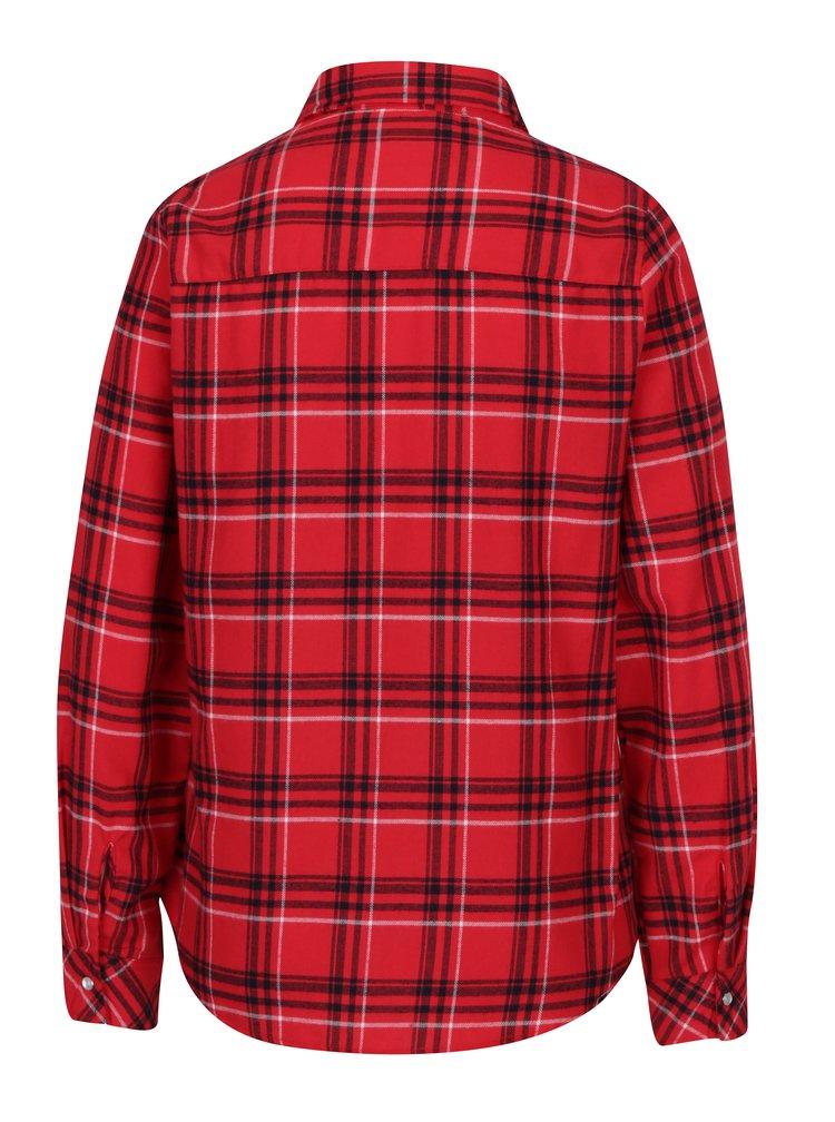 Červená kockovaná košeľa Haily´s Tabea