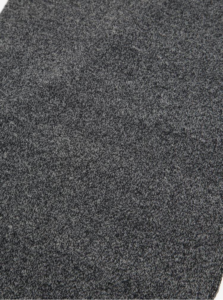Tmavě šedá žíhaná šála Shine Original