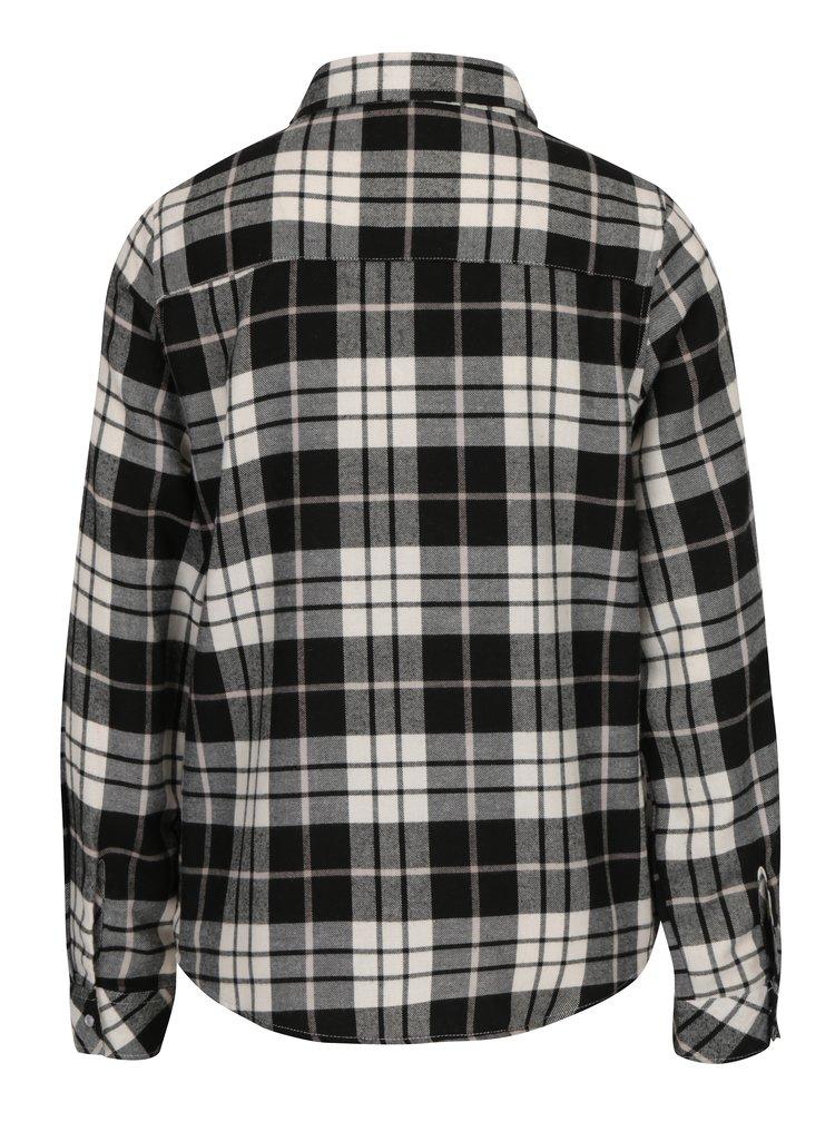 Camasa alb & negru din flanel cu print tartan - Haily´s Tabea