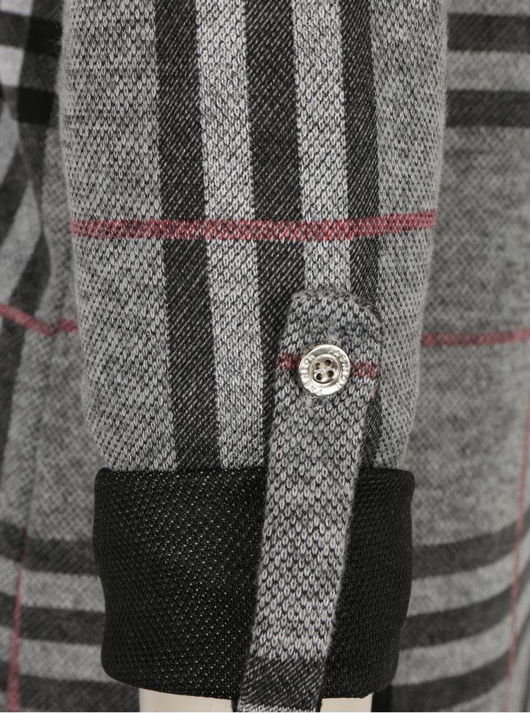 Bluza gri cu maneci lungi si print tartan - Haily´s Mila