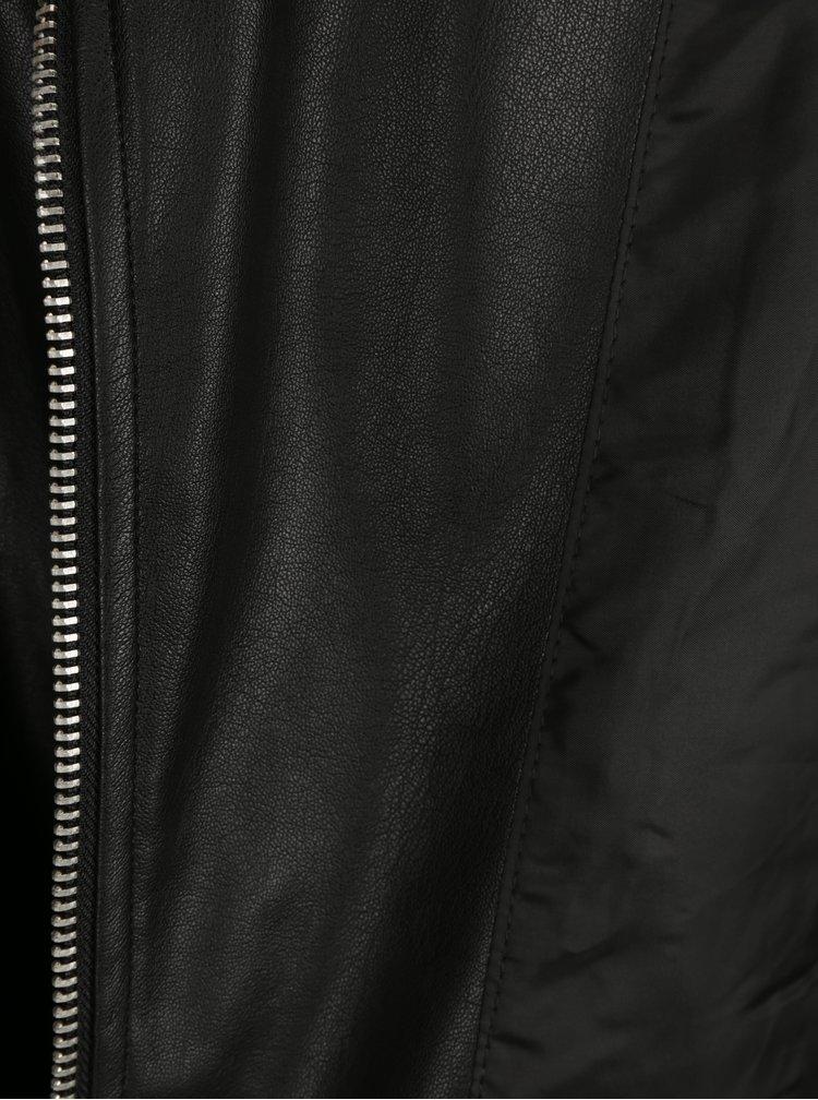 Černý koženkový křivák VERO MODA Juhuu