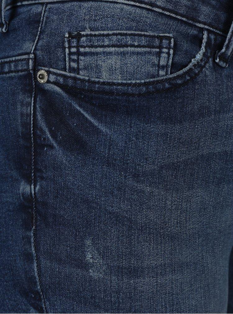Blugi skinny albastri cu aspect deteriorat Jacqueline de Yong Skinny