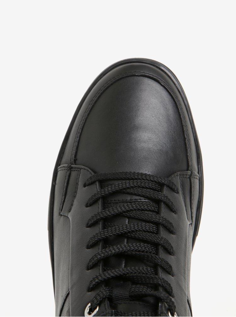 Černé pánské kožené kotníkové tenisky Vagabond Paul