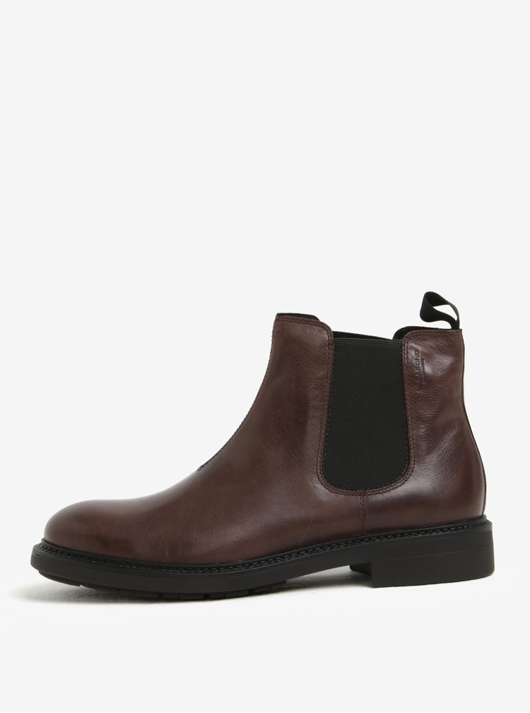 Hnědé pánské kožené chelsea boty Vagabond Edward