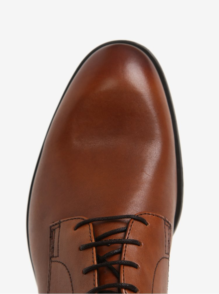 Pantofi maro din piele naturala cu sireturi pentru barbati -  Vagabond Harvey
