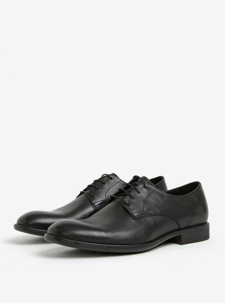 Pantofi negri din piele naturala cu sireturi pentru barbati - Vagabond Harvey