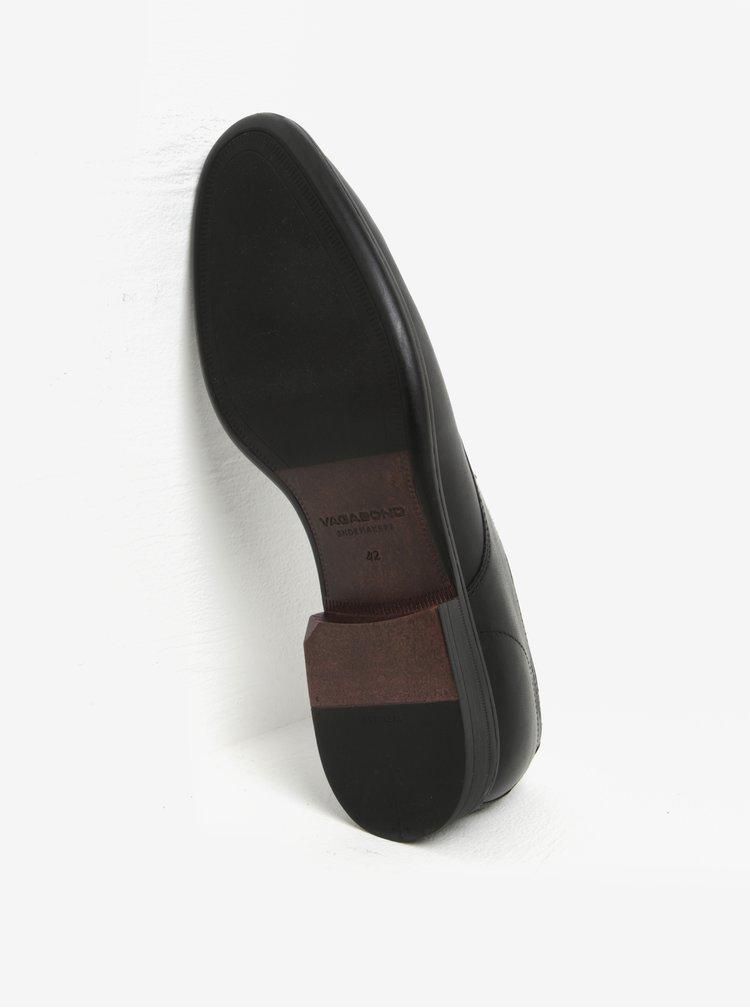 Černé pánské kožené polobotky Vagabond Harvey