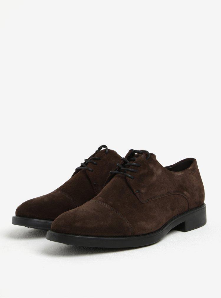 Pantofi maro din piele intoarsa cu sireturi pentru barbati - Vagabond Noel