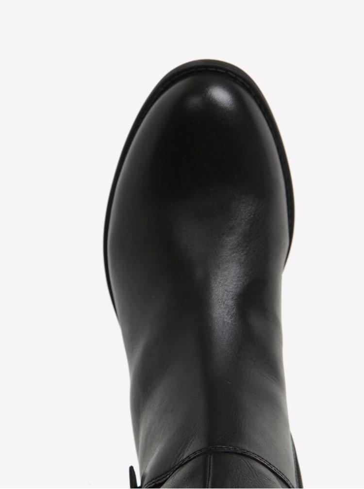 Černé dámské kožené kozačky Vagabond Cary